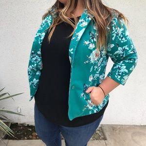 Floral blazer size XL